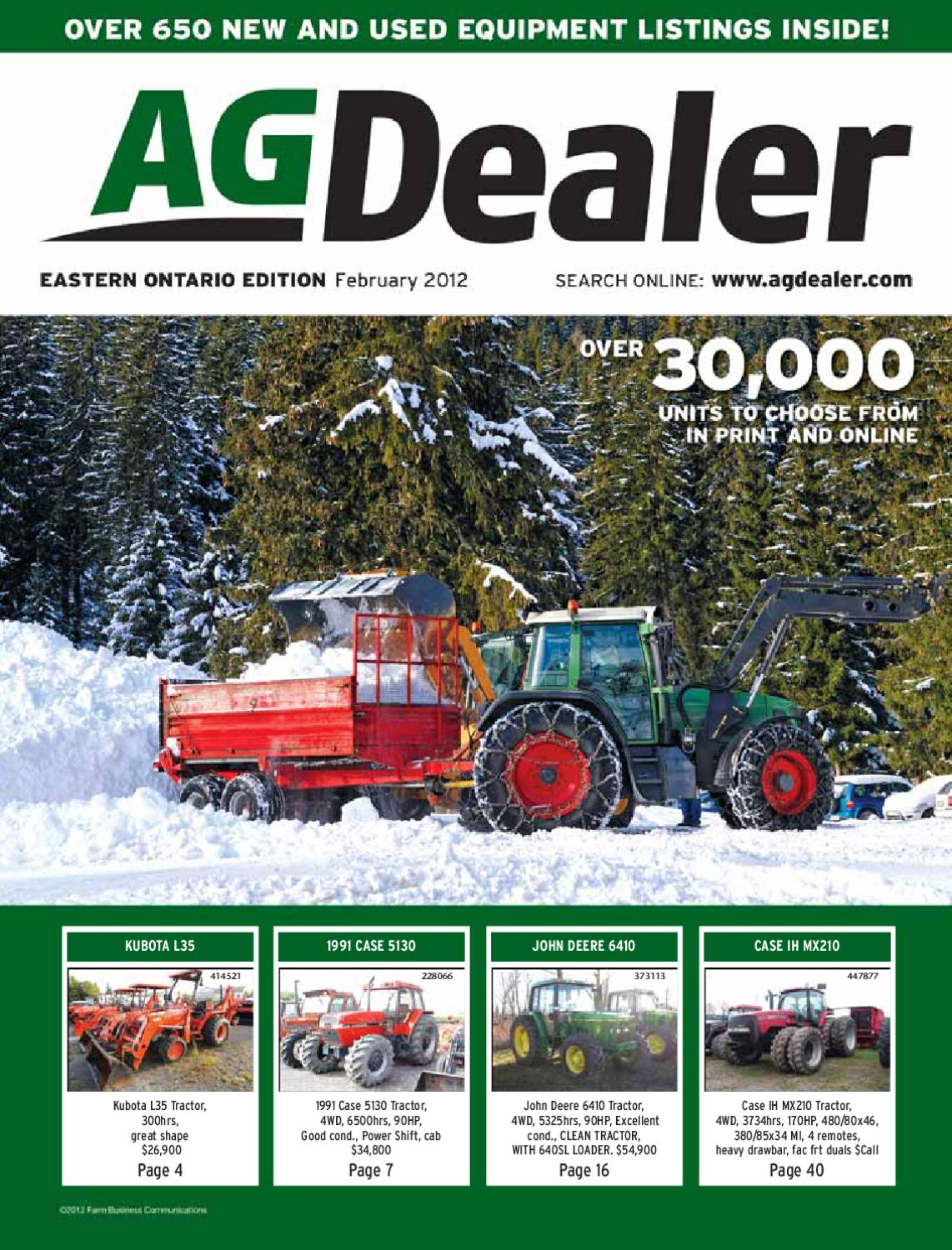 AGDealer Eastern Ontario Edition, February 2012 by Farm Business  Communications - issuu