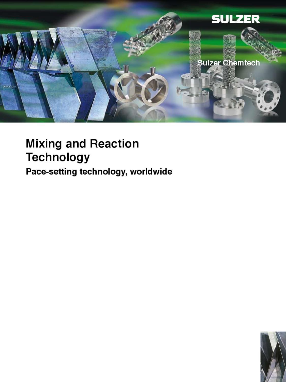 Reactores tecnológicos y mezcladores - Sulzer chemtech by