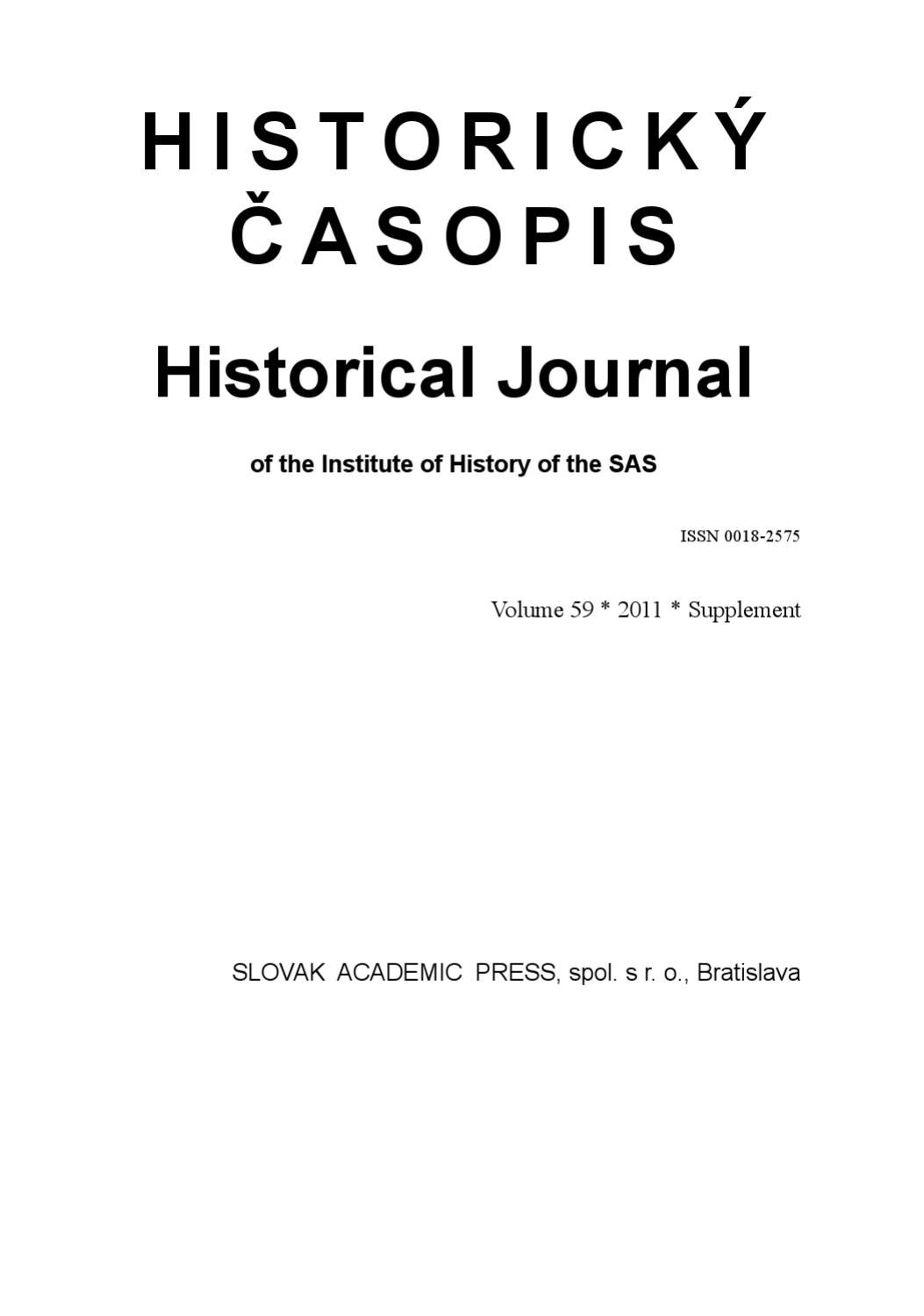 Historical Journal by Peter Krakornik - issuu