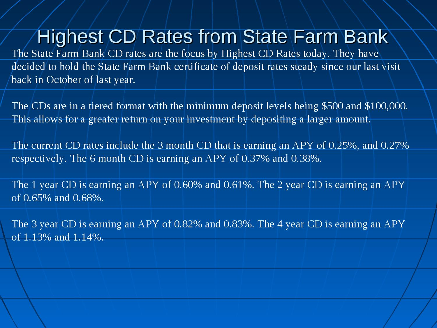 Best Cd Rate From State Farm Bank By Robin Smith Issuu