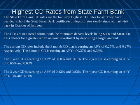 Best Cd Rates >> Best Cd Rate From State Farm Bank By Robin Smith Issuu