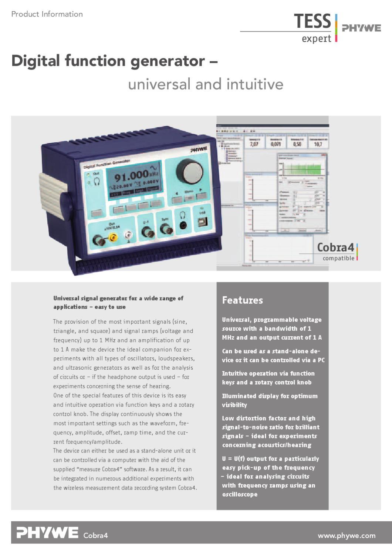 En Digital Function Generator By Phywe Systeme Gmbh Co Kg Issuu Integratedcircuit Functiongenerator