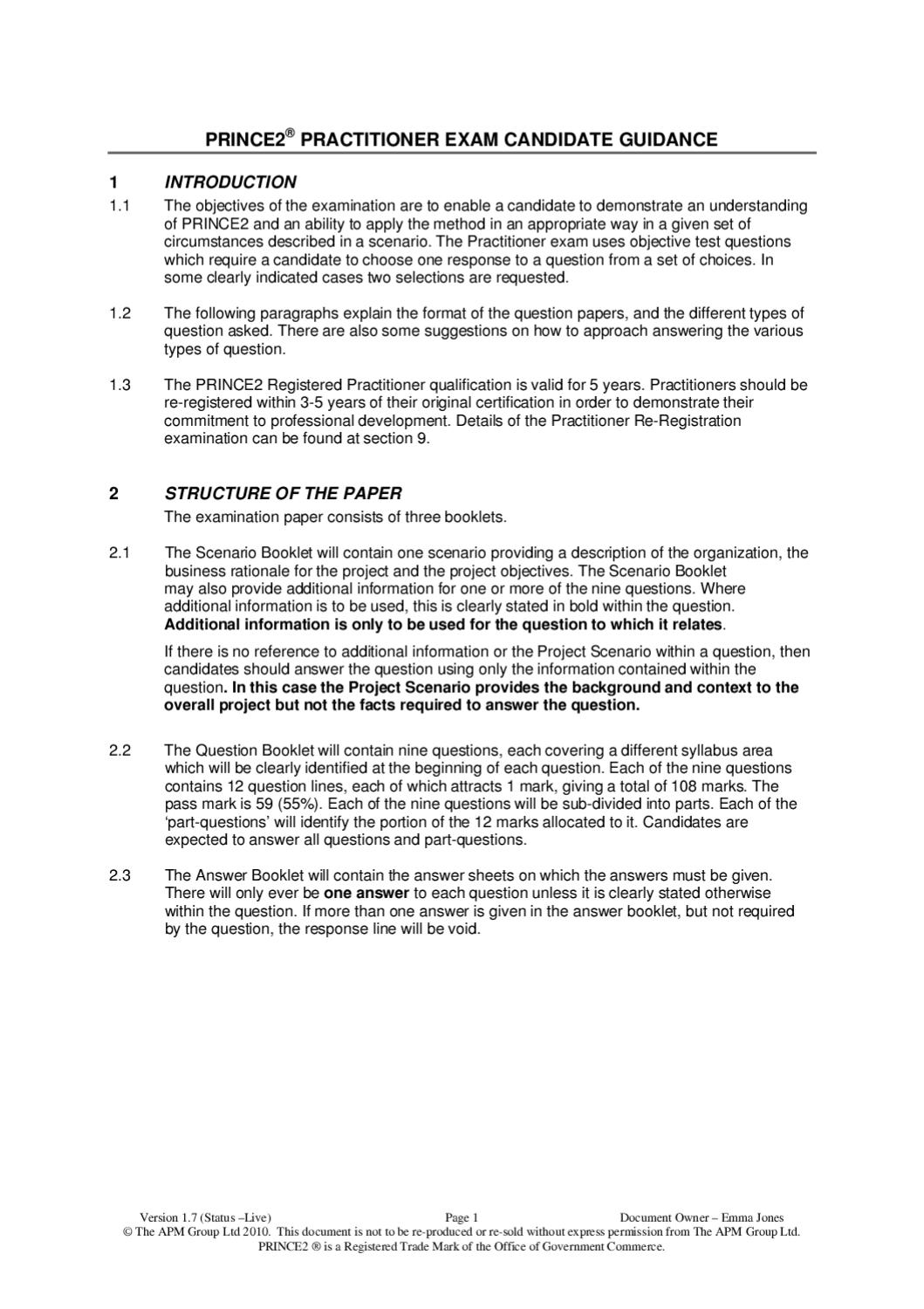 Prince2 practitioner exam candidate guidance by michelangelo prince2 practitioner exam candidate guidance by michelangelo carbone issuu yelopaper Image collections