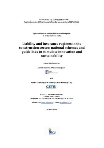 Liability insurance regimes in eu construction sector by huib contract no si2proce021941000 publication in the official journal of the european union of 02122008 fandeluxe Images
