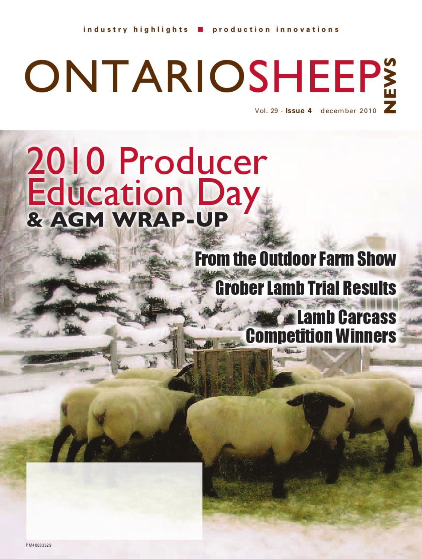 Ontario Sheep News - December 2010 by Ontario Sheep