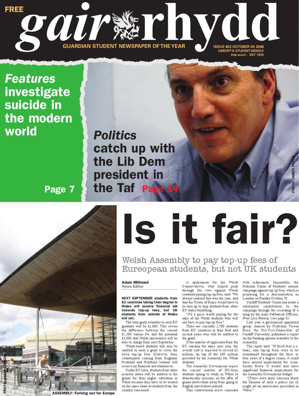 gair rhydd Issue 822 by Cardiff Student Media issuu