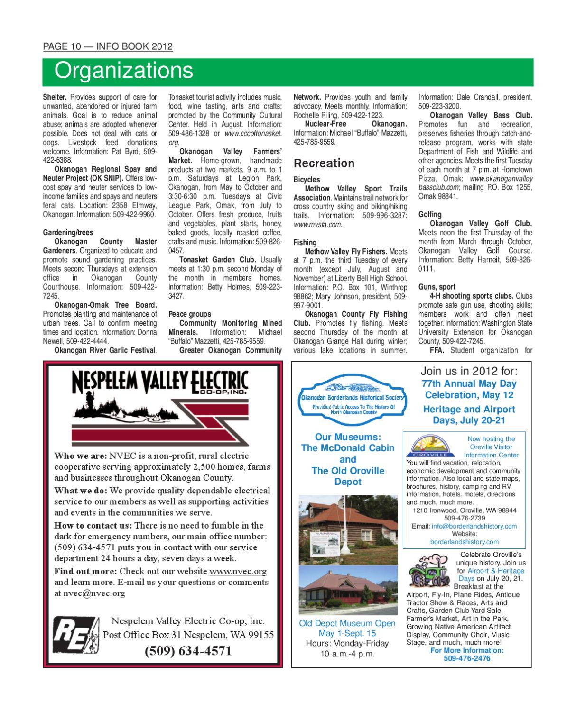InfoBook 2012 By The Omak-Okanogan County Chronicle