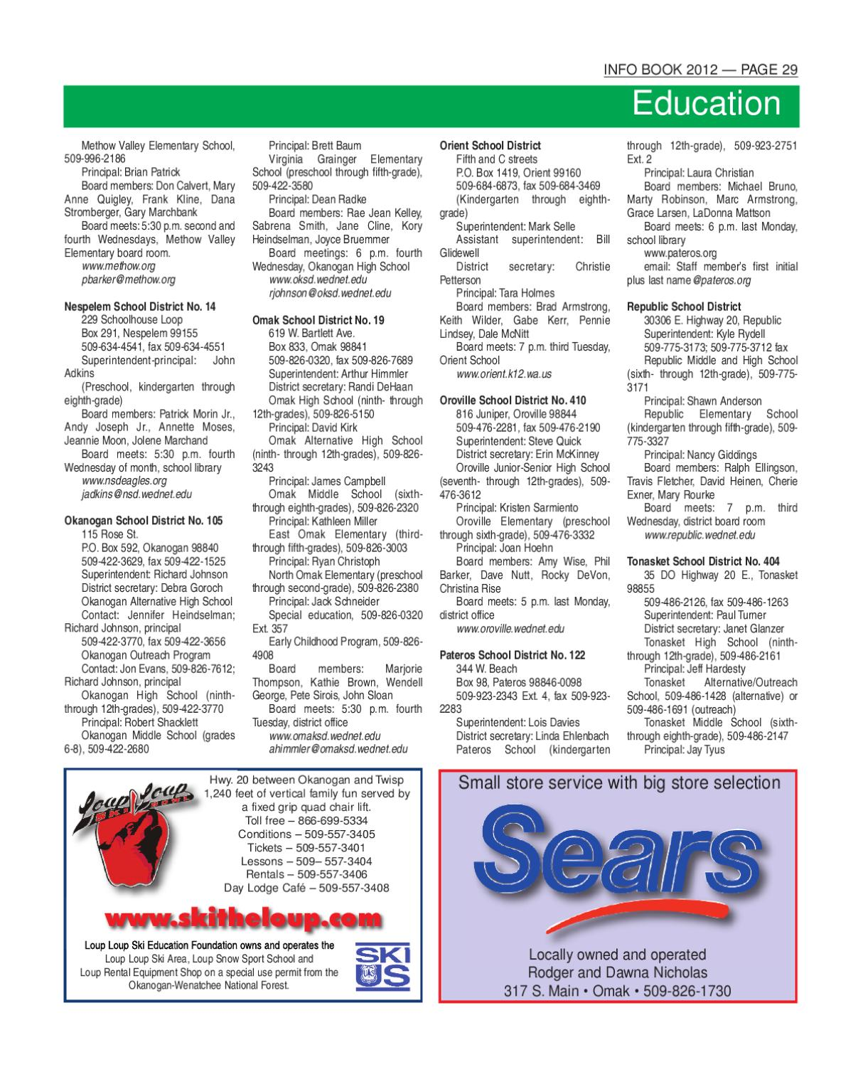 Infobook 2012 By The Omak Okanogan County Chronicle Newspaper Issuu