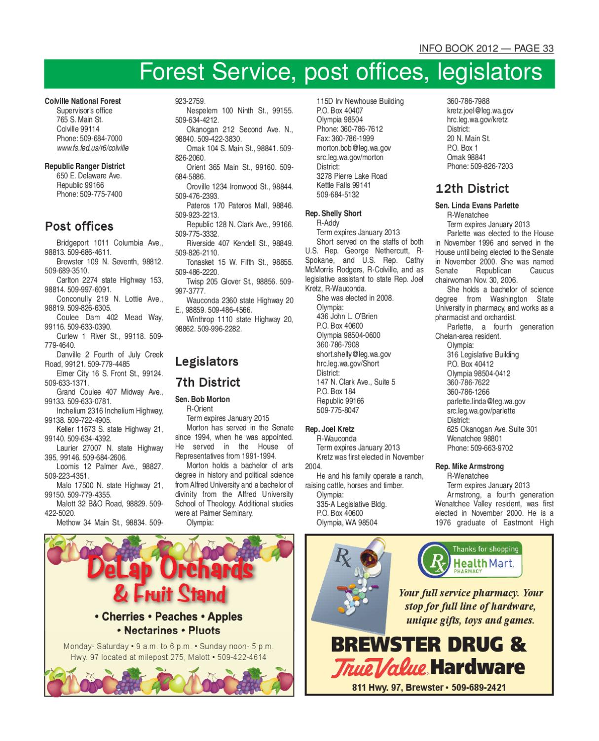InfoBook 2012 By The Omak-Okanogan County Chronicle
