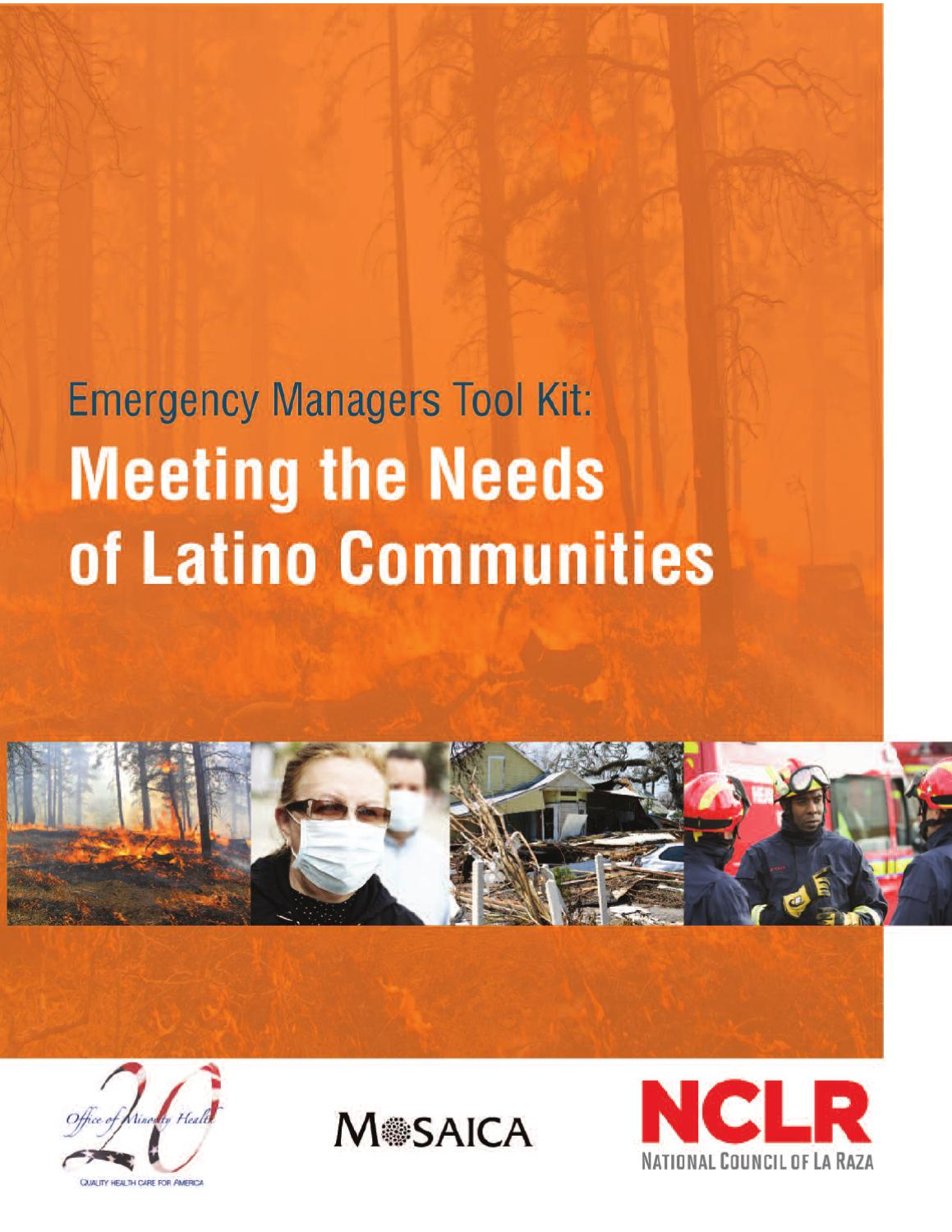 Emergency Managers Tool Kit: Meeting the Needs of Latino Communities ...