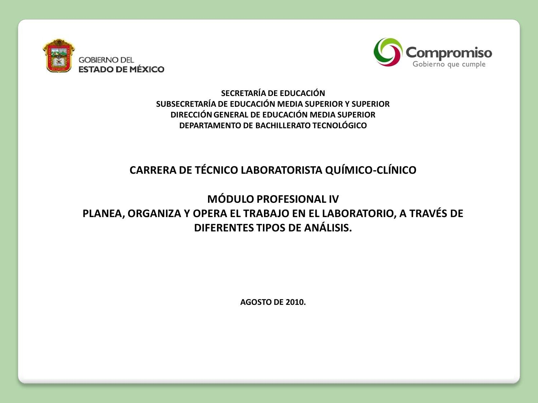 T cnico laboratorista qu mico cl nico modulo iv by for Oficina de empleo de segovia