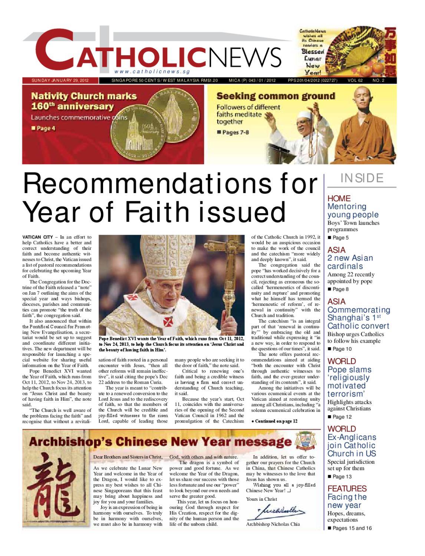 JANUARY 29 2012 Vol 62 No 02 by CatholicNews issuu