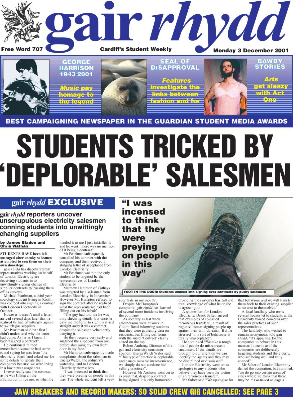 gair rhydd Issue 707 by Cardiff Student Media issuu