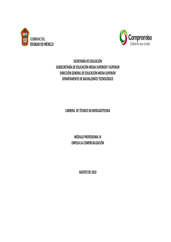 Técnico en Mercadotecnia Modulo IV by Subdirección de Bachillerato ...