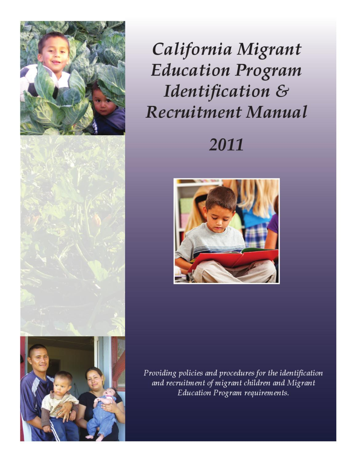 California Migrant Education I&R Manual by Jose Valencia - issuu