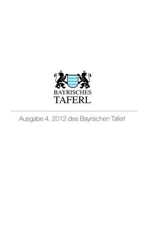 Ausgabe 4, des Bayrischen Taferl 2012 by Bayrisches Taferl - issuu