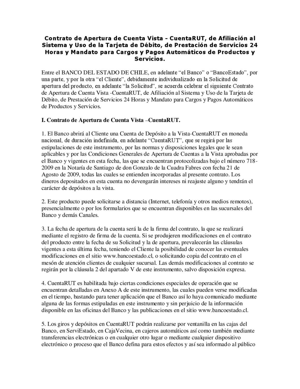 Contrato De Apertura De Cuenta Rut By Financialred Argentina Issuu