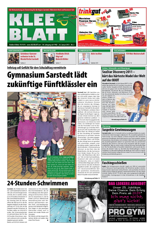 KLEEBLATT 26. Januar 2012 by KLEEBLATT Verlag - issuu