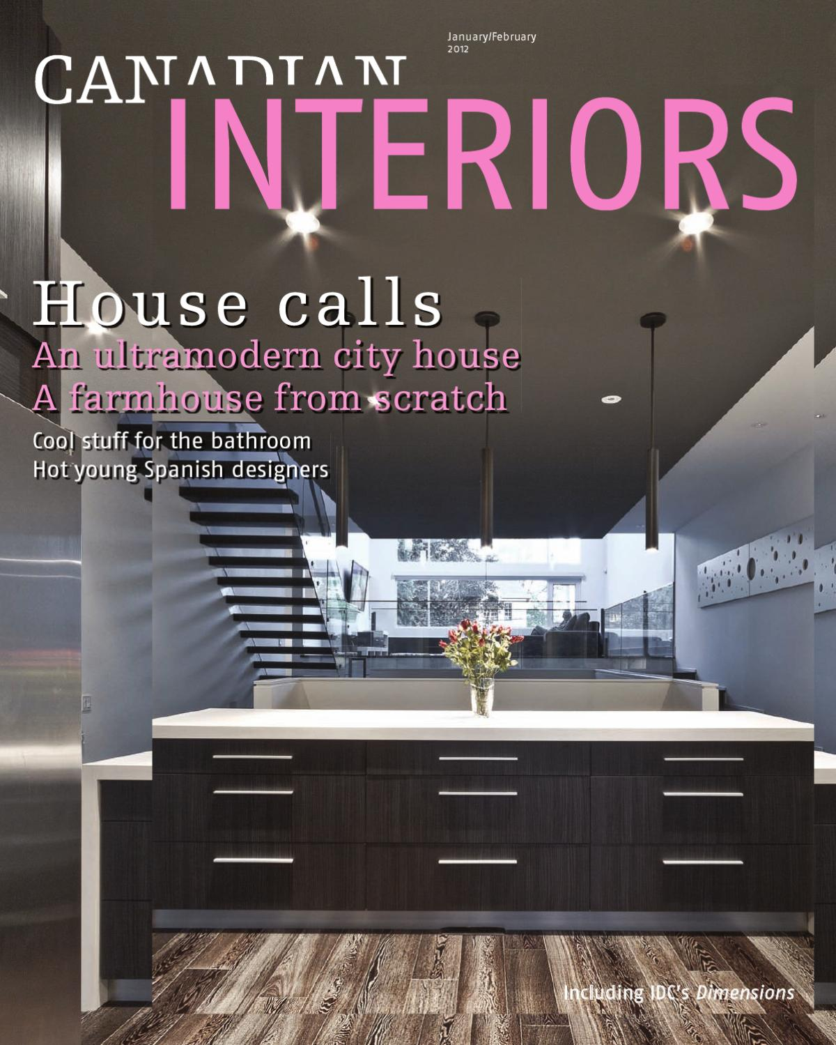 Canadian interiors januaryfebuary 2012