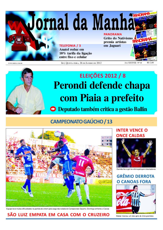 jornaldamanhaijui26.01.12 by Classificados Jornal da Manhã - issuu 38ad28560eefc