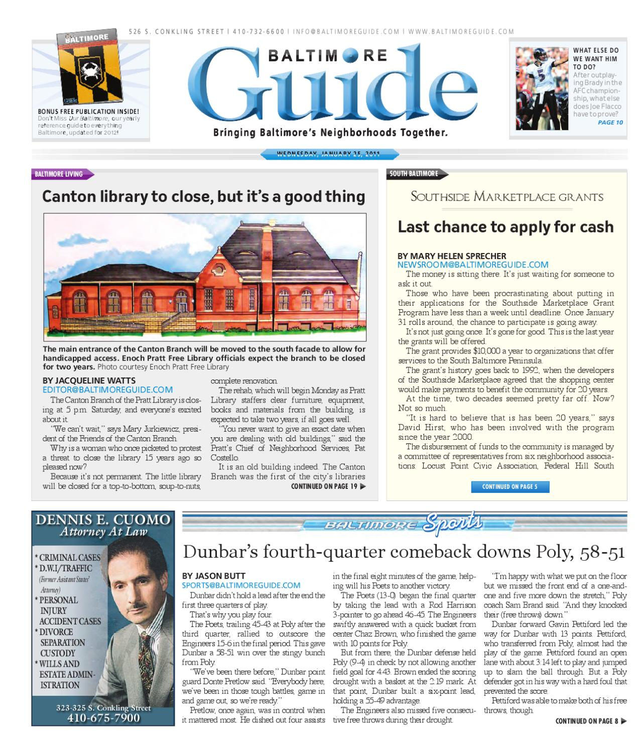 January 25, 2012 - The Baltimore Guide by The Baltimore Guide - issuu