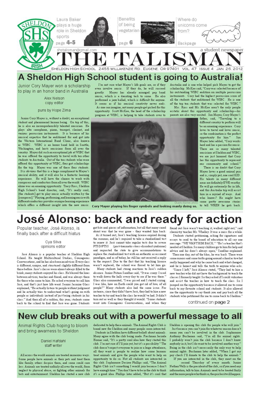 Volume 47 Issue 4 - Jan 26, 2012 by The Talisman - issuu