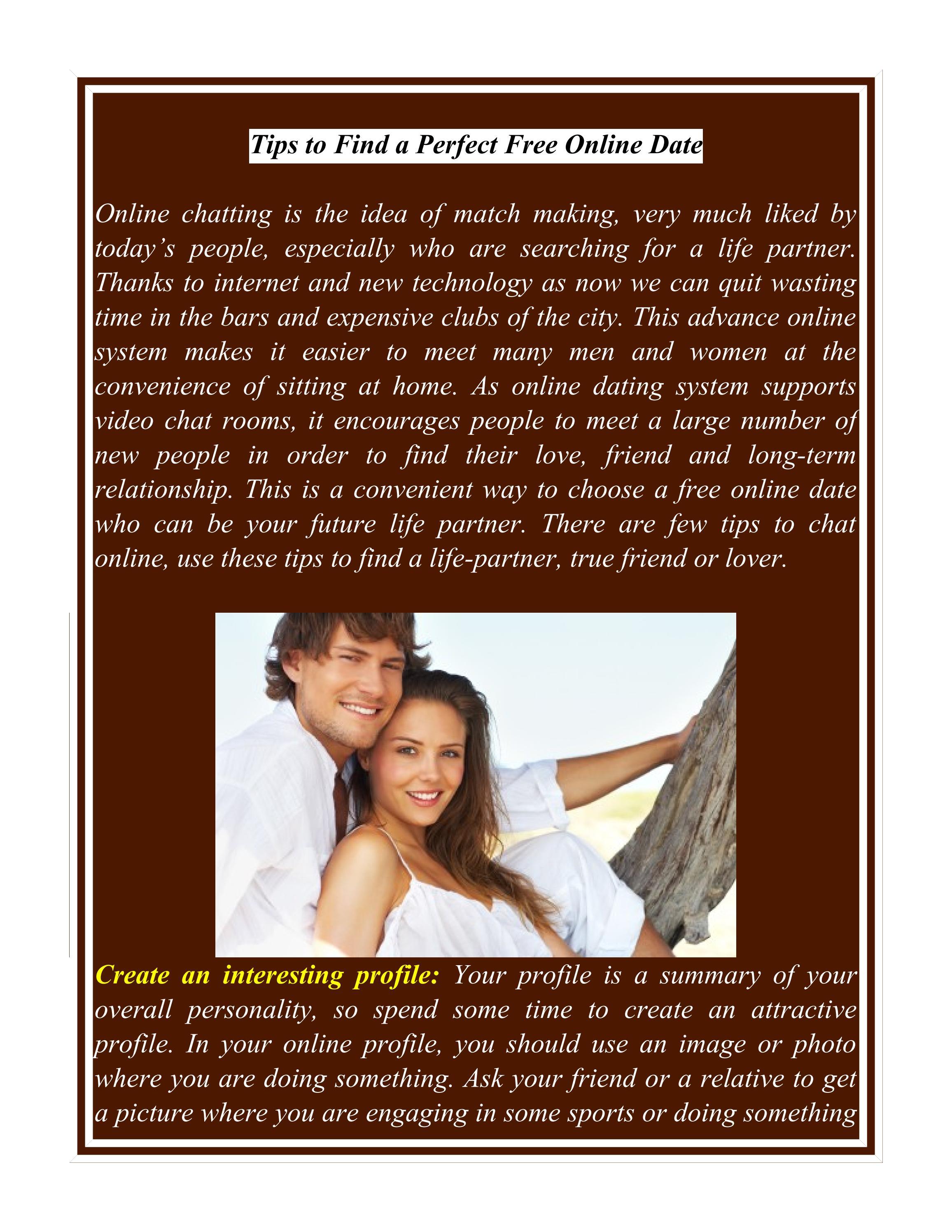 exempel på en perfekt online dating profil