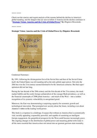 Strategic Vision Brzezinski Pdf