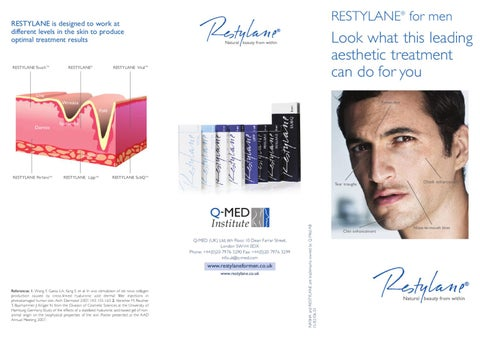 Restylane For Men Brochure 8 09 By Tracey Bell Issuu