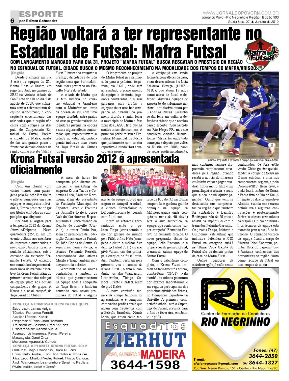 Jornal do Povo - Edição 500 - Dia 27 de Janeiro de 2012 by Jornal do Povo -  issuu aee3a11fcaf33
