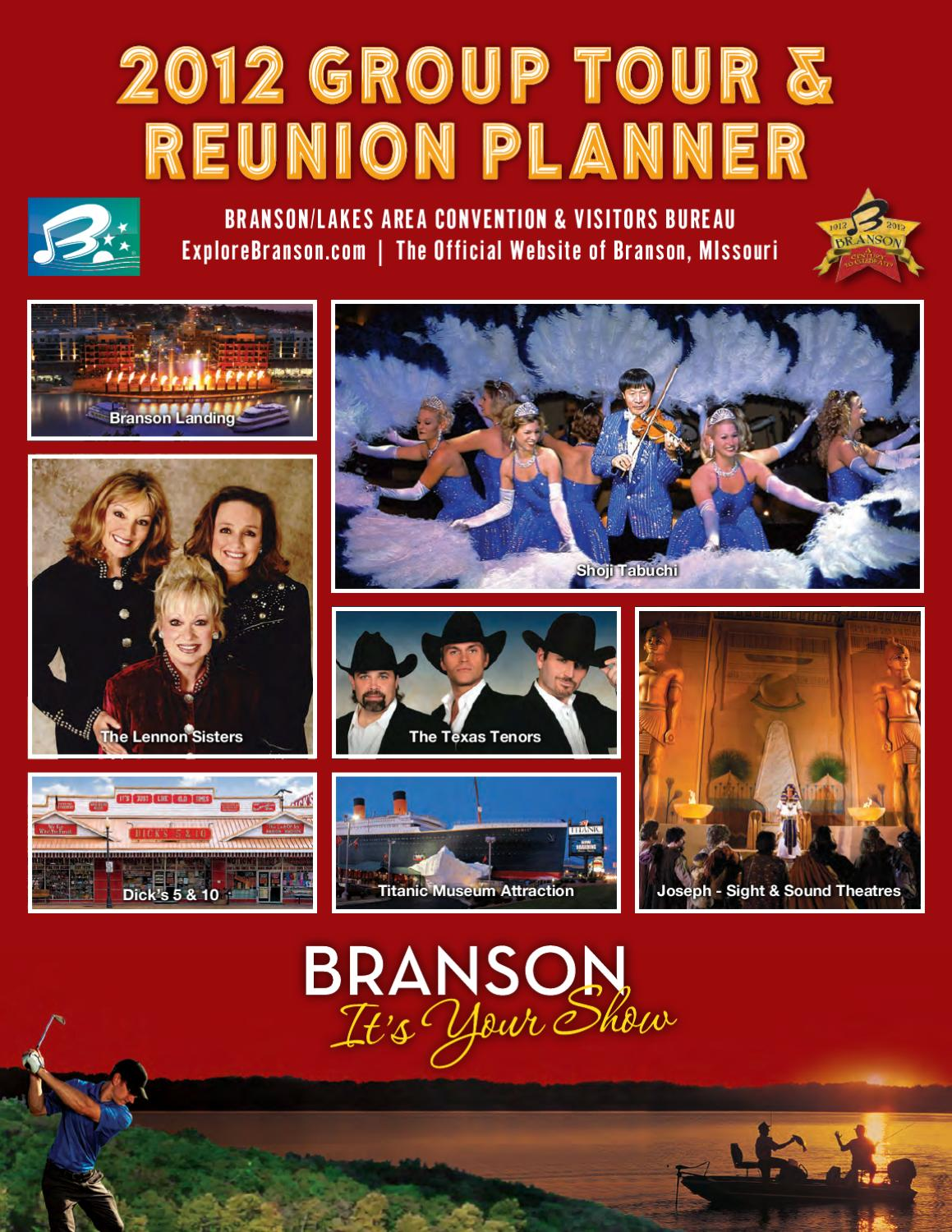 2012 branson group tour and reunion planner by branson. Black Bedroom Furniture Sets. Home Design Ideas