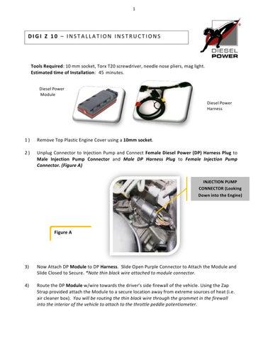 Diesel Power Digi Z installation instructions for 1998 5-2003 VW