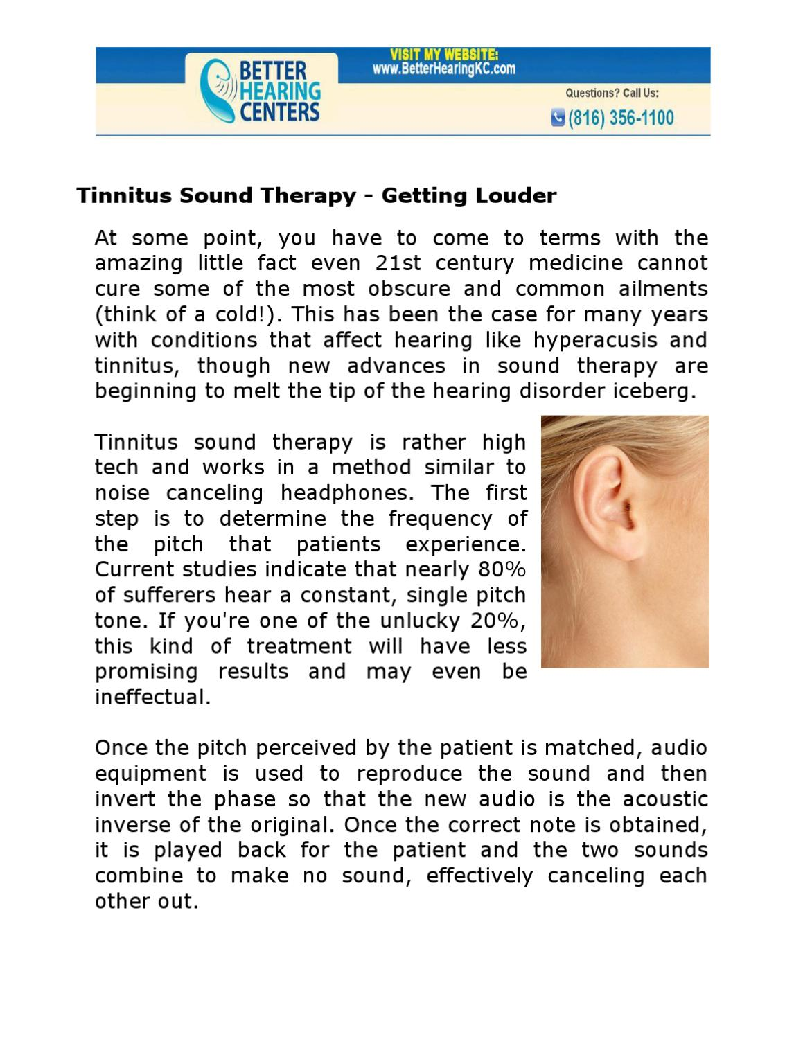 Tinnitus Sound Therapy - Getting Louder by Better Hearing Centers