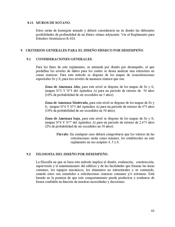 Reglamento Para El Análisis Y Diseño Sísmico De Estructuras