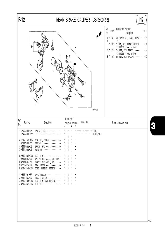 HONDA 06435-MEL-D22 PAD SET RR.