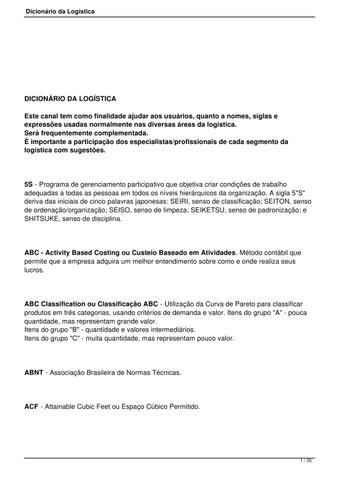 8220e536eea20 Dicionario da logistica by Janser Gomes - issuu