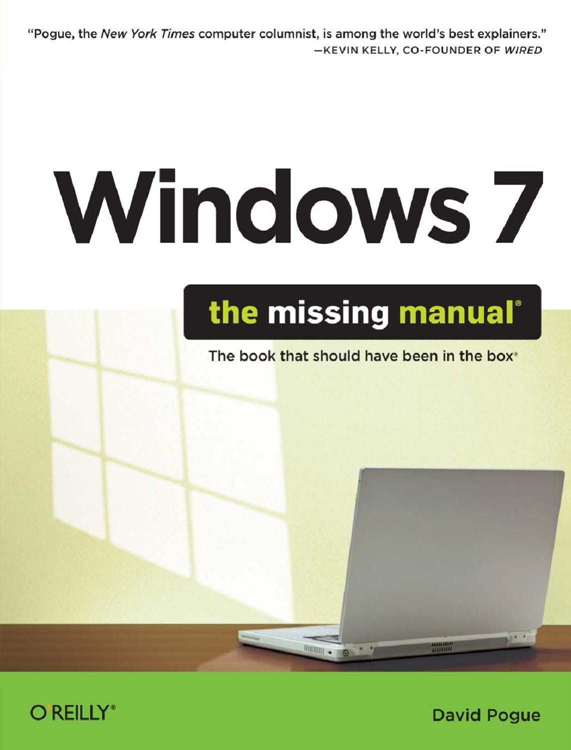 Windows 7 The Missing Manual Part 1 by Ben Thompson - issuu