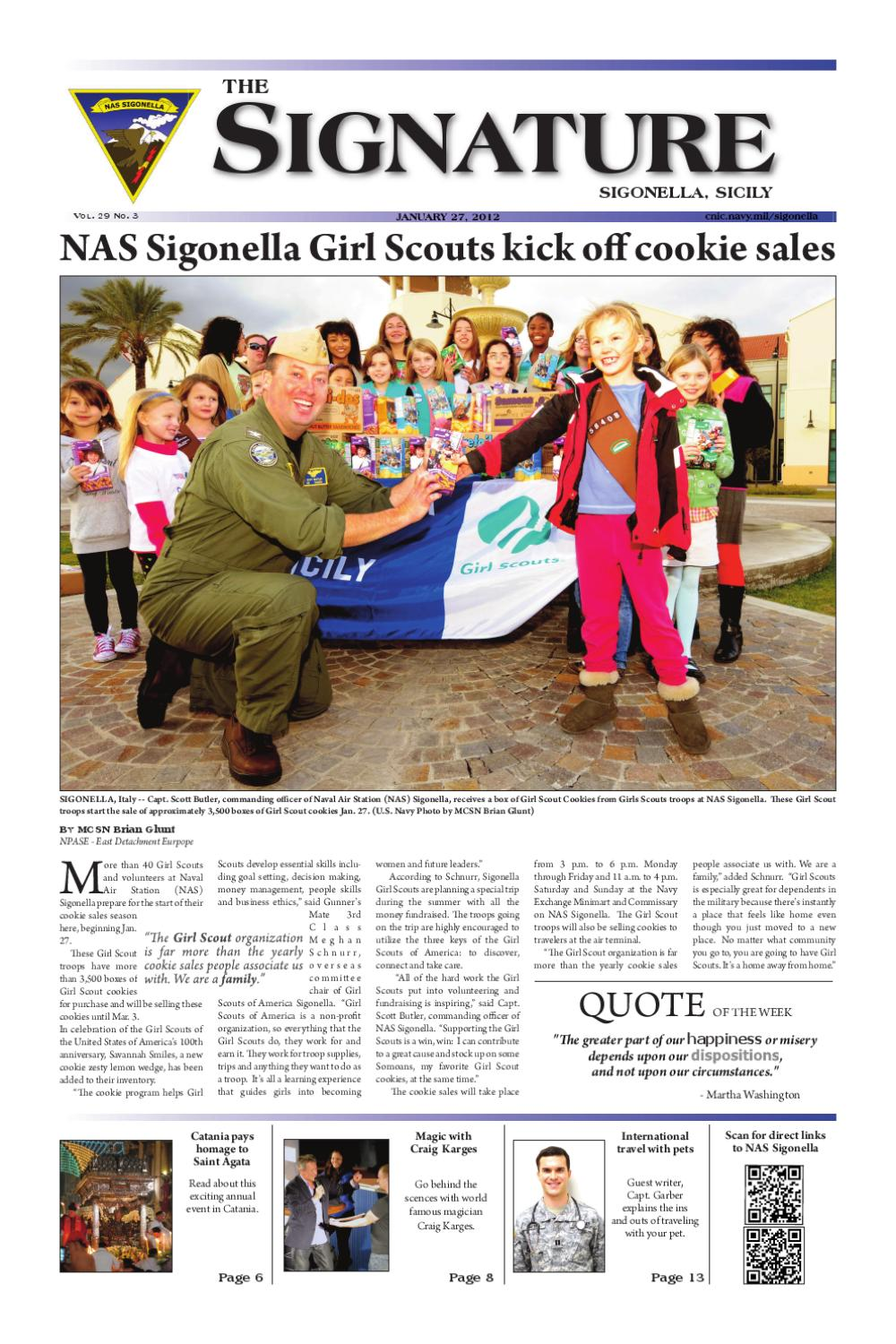 The January 27 issue of The Signature by NAS Sigonella