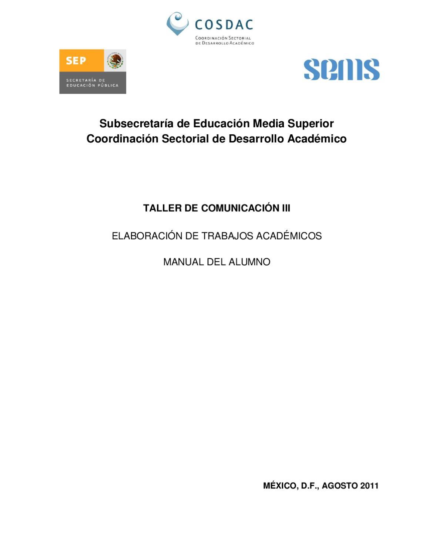 TALLER 3 COMUNICACION-ALUMNO by Ernesto Yañez - issuu