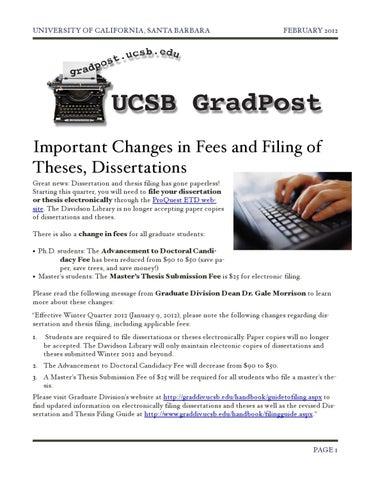 Dissertation Filing Ucsb