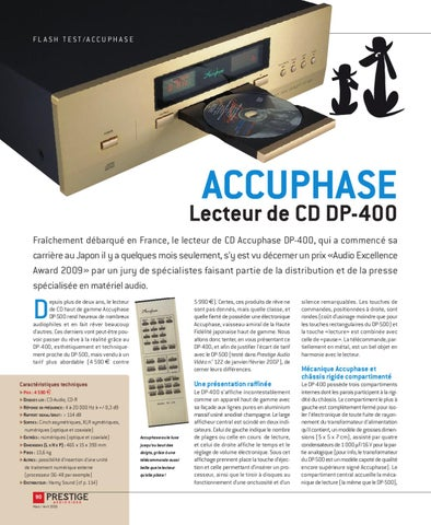 b78ddcf68cf Prestige Audio Vidéo n°133 (mars avril 2009) by ON Magazine - issuu