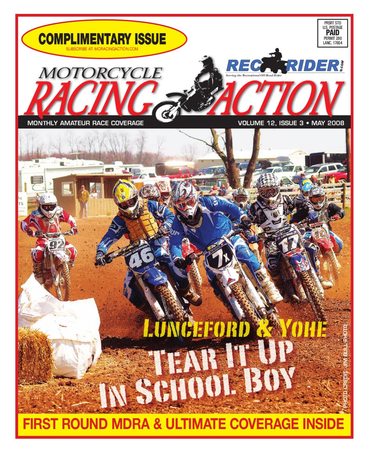 MRA May 2008 By Motorcycle Racing Action   Issuu