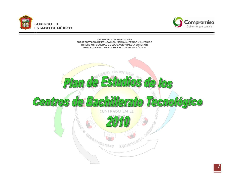 Plan De Estudios De Los Centros De Bachillerato Tecnológico