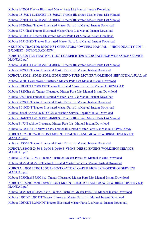 Kubota M Series Parts Manual By Nana Hong