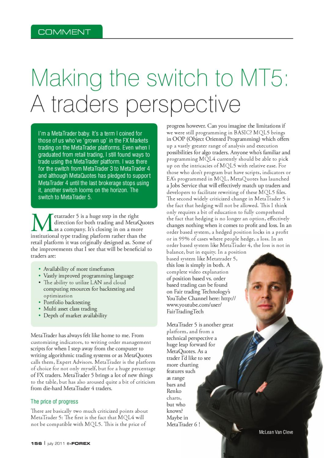 Making the Switch to MT5 by McLean Van Cleve - issuu