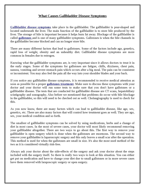 What Causes Gallbladder Disease Symptoms By Henry John Issuu
