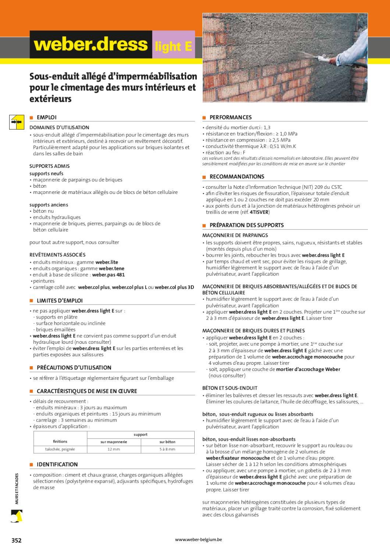 Epaisseur Enduit Sur Parpaing e-guide weber 2012weber - issuu