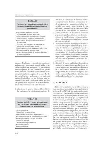 Infecciones pulmonares en inmunodeprimidos