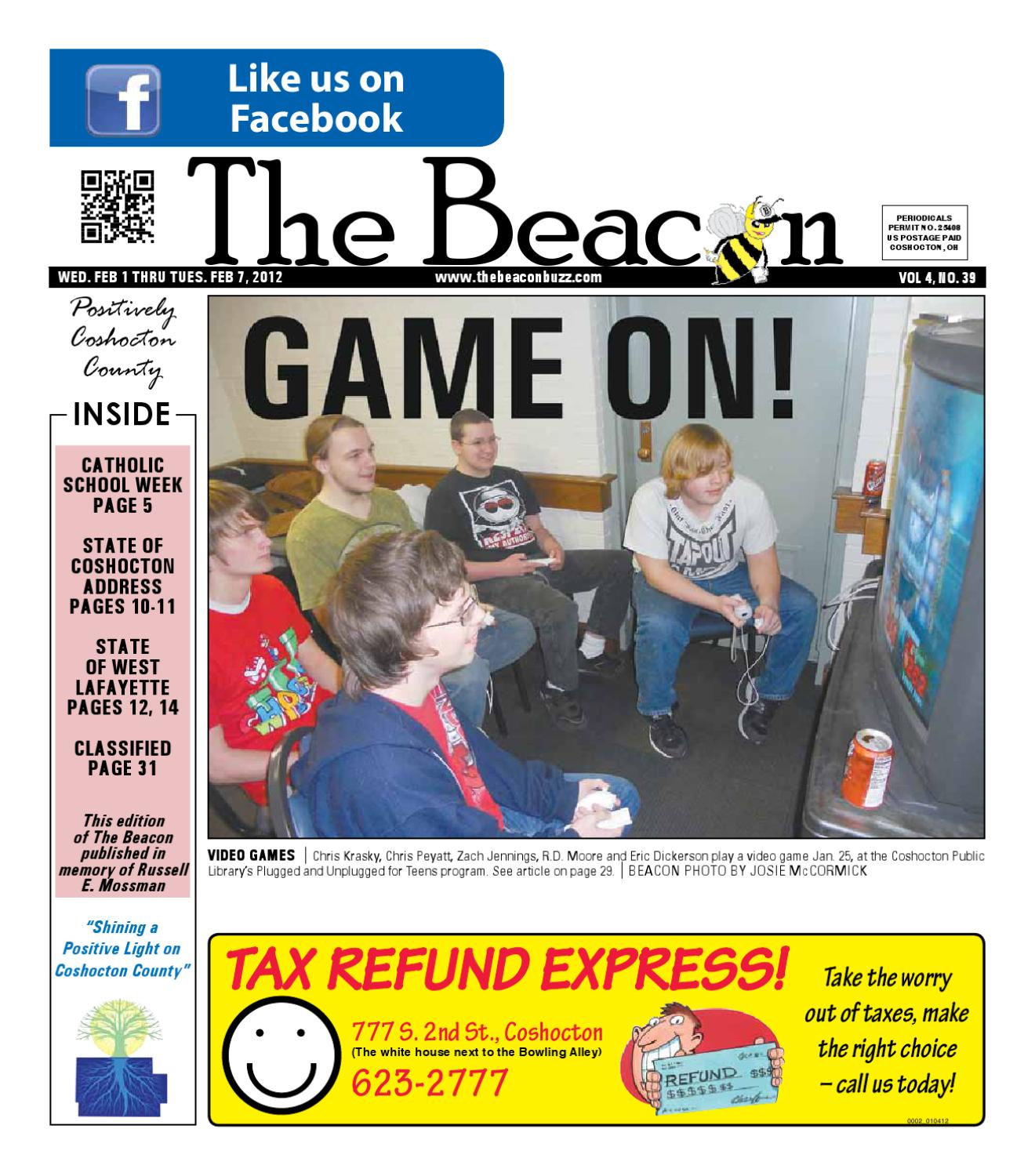 February 1 2012 Coshocton County Beacon By The