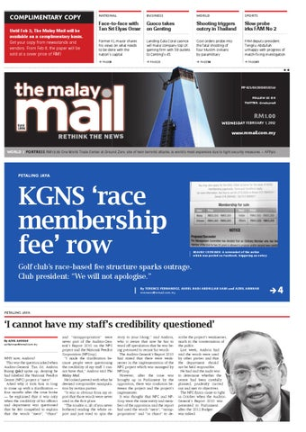 COMPLIMENTARY COPY Until Feb 3, The Malay Mail will be available on a  complimentary basis. Get your copy from newsstands and vendors. From Feb 6,  the paper ...